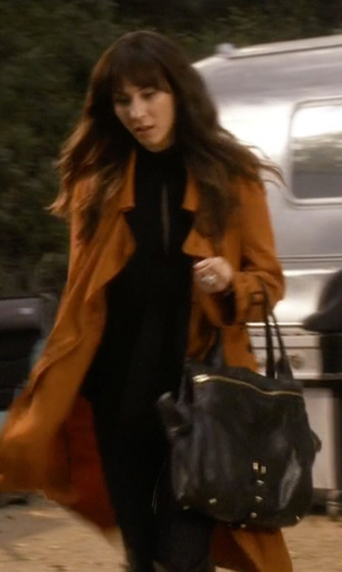 Troian Bellisario with Botkier New York  Trigger Small Leather Satchel Bag in Pretty Little Liars