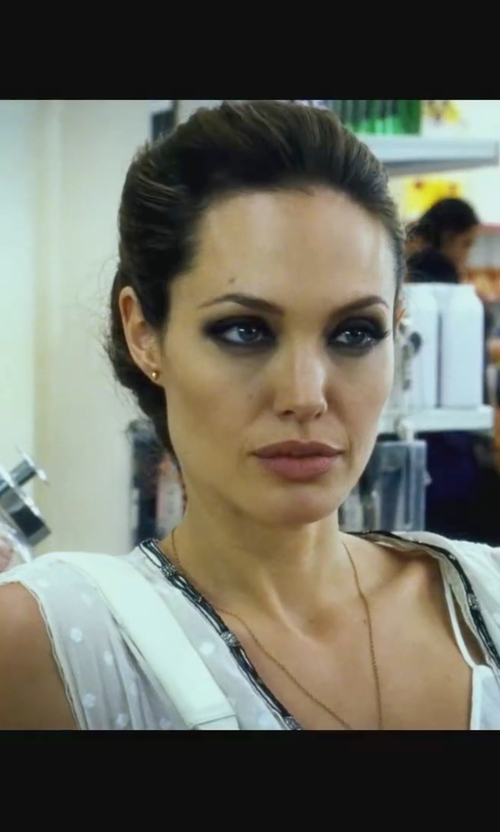 Angelina Jolie with Uniqueness Short Dress in Wanted