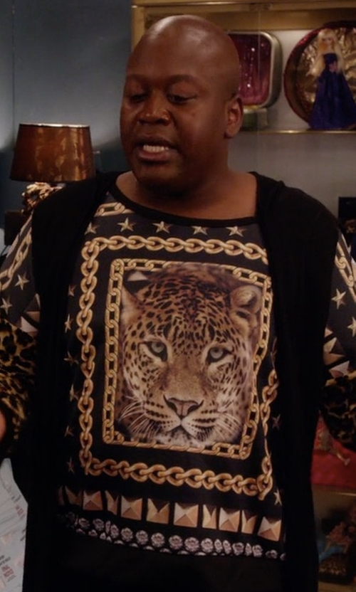 Tituss Burgess with Joan Vass Milano Long Vest in Unbreakable Kimmy Schmidt