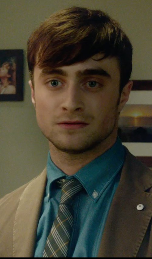 Daniel Radcliffe with Philadelphia Eagles Eagles Wings Oxford Tie in What If