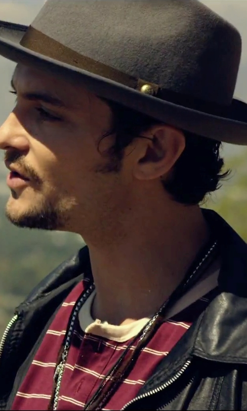 Shiloh Fernandez with Brooks Brothers C-Crown Fedora Hat in We Are Your Friends