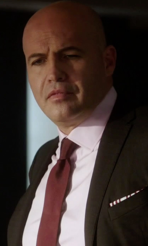 Billy Zane with Saks Fifth Avenue Collection  Solid Silk Tie in Guilt