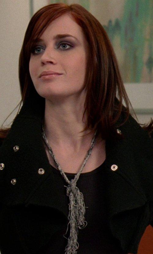 Emily Blunt with Majorica Tassel Pendant Necklace in The Devil Wears Prada