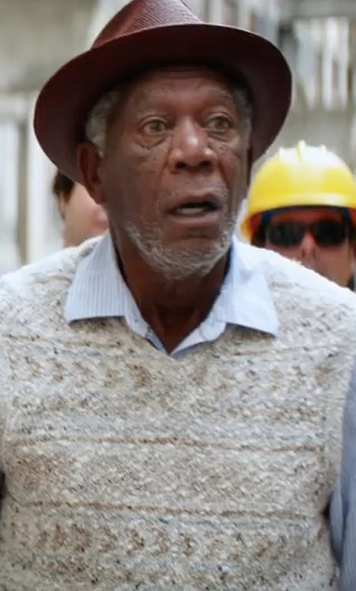Morgan Freeman with U.S. Polo Assn. Sweater Vest in Going In Style
