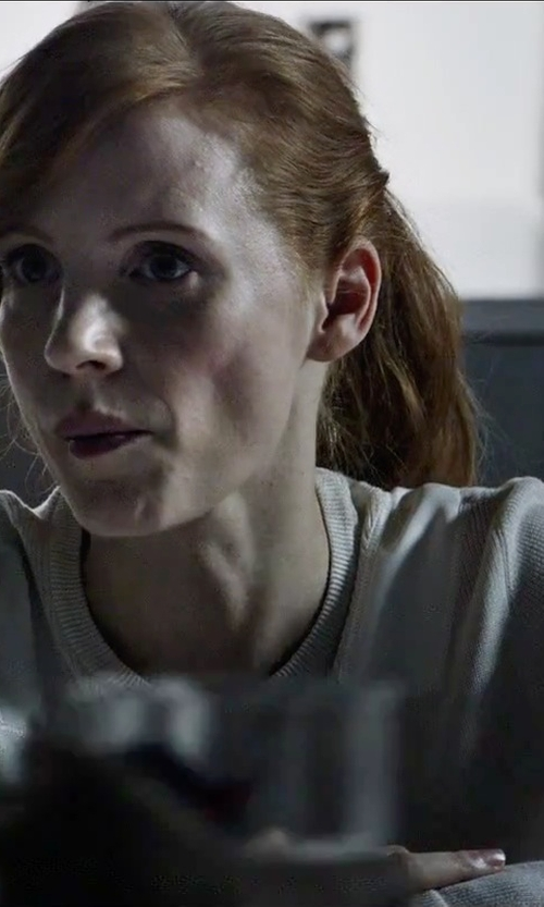 Jessica Chastain with Tommy Hilfiger Round Colar Sweater in The Martian