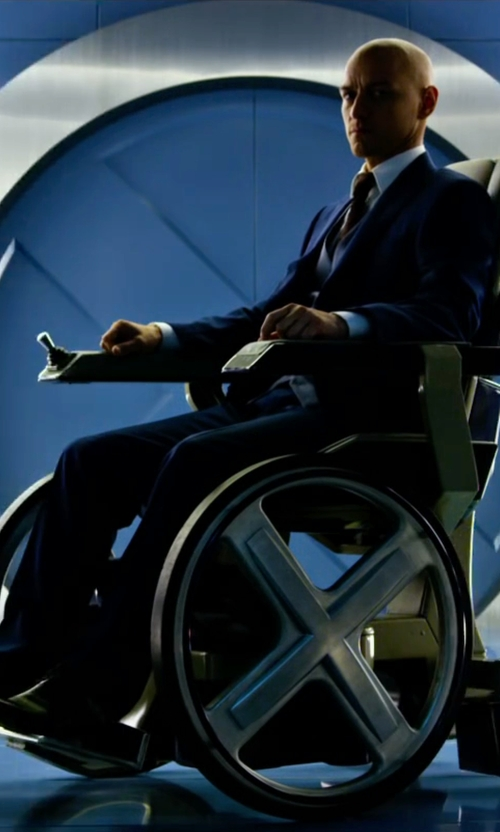 James McAvoy with Florsheim Lace Up Shoes in X-Men: Apocalypse