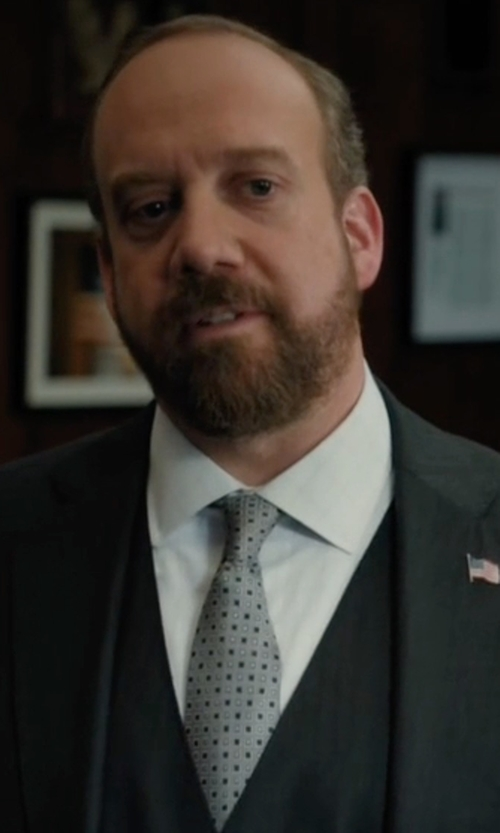 Paul Giamatti with Brooks Brothers Framed Square and Dot Tie in Billions