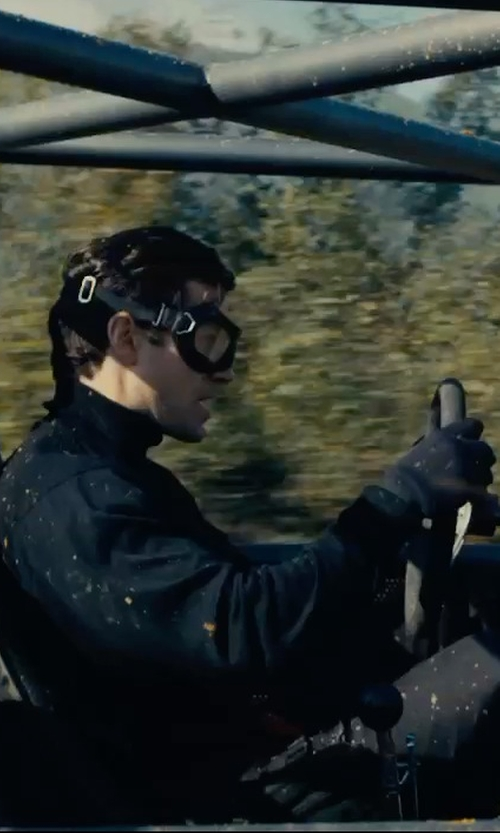 Henry Cavill with MCQ Alexander McQueen Leather Buckle Utility Pants in The Man from U.N.C.L.E.