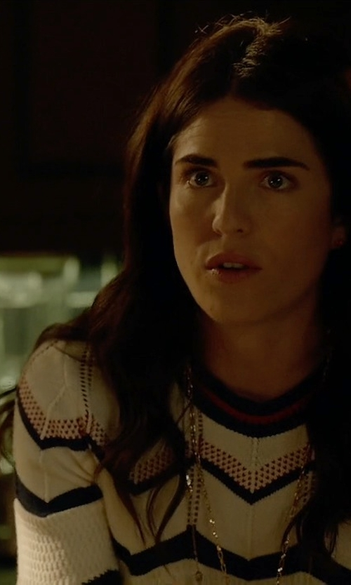 Karla Souza with Veronica Beard Chevron Sweater in How To Get Away With Murder