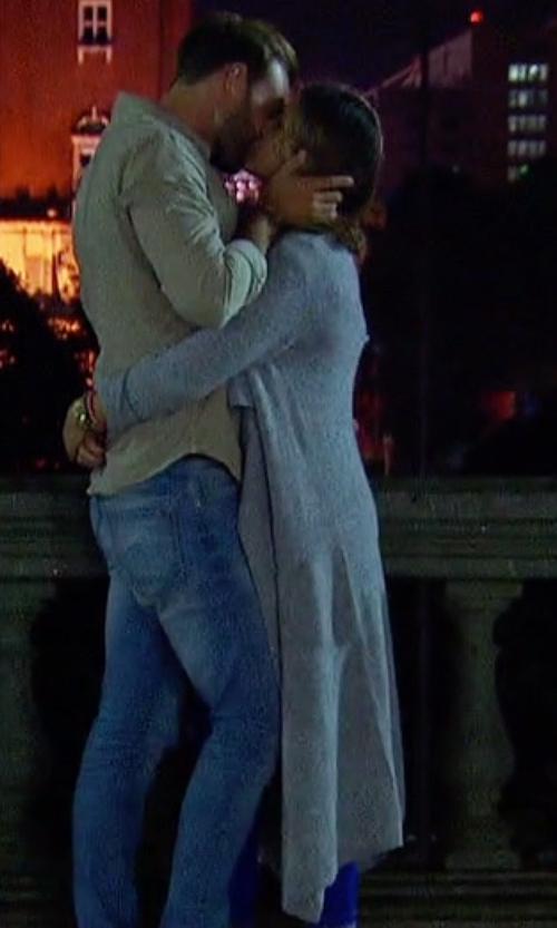 JoJo Fletcher with BB Dakota Tabbetha Long Cardigan in The Bachelorette
