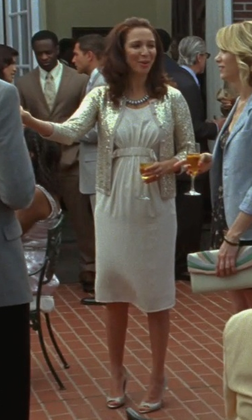 Maya Rudolph with Jimmy Choo Dahlia Glitter Pumps in Bridesmaids