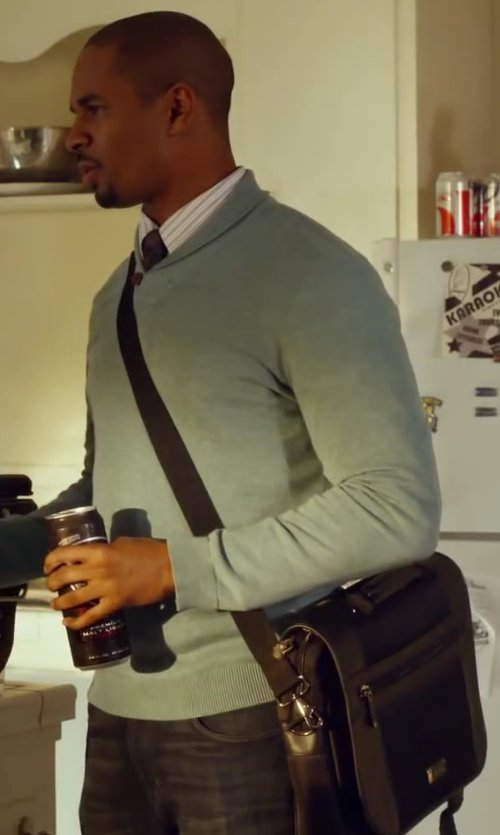 Damon Wayans Jr. with Tumi Alpha Bravo - Beale Mini Messenger Bag in Let's Be Cops