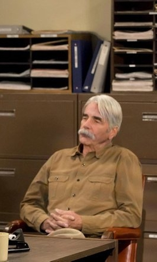 Sam Elliott with Bulwark Long-Sleeve Dress Shirt in The Ranch