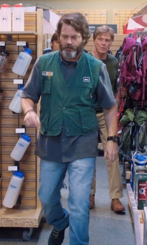 Nick Offerman with Caterpillar Coolant C.S.A. Steel Toe Boots in A Walk in the Woods
