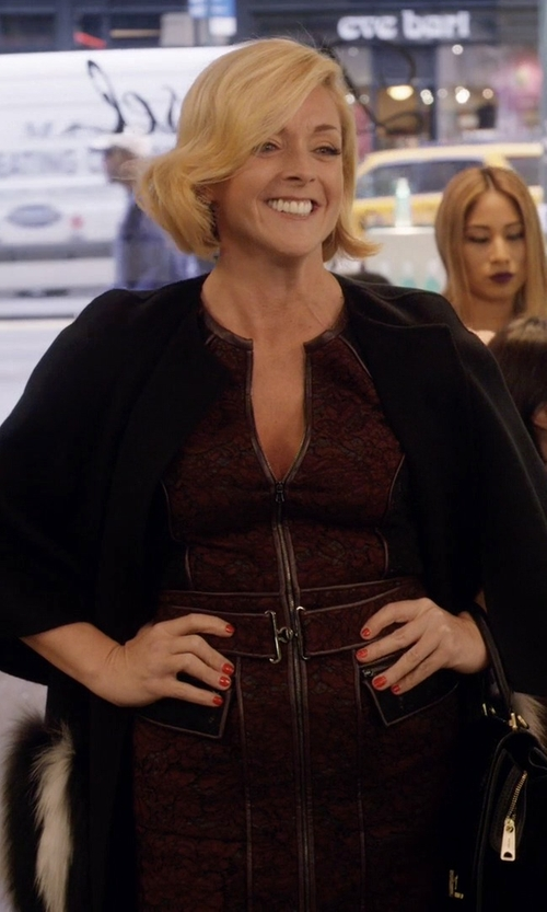 Jane Krakowski with Maison Margiela 4 Single-Breasted Cape in Unbreakable Kimmy Schmidt