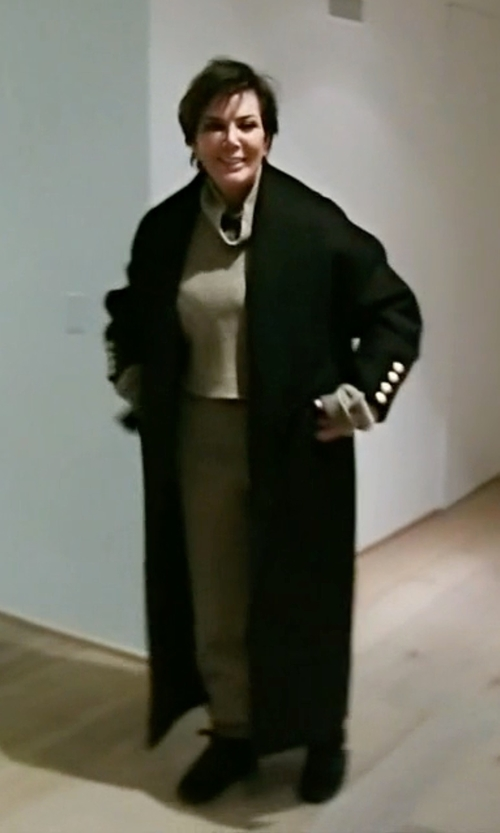 Kris Jenner with Marni V-Neck Long Coat in Keeping Up With The Kardashians