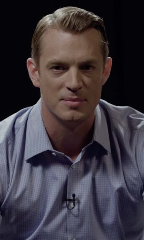 Joel Kinnaman with Ike Behar Check Dress Shirt in House of Cards