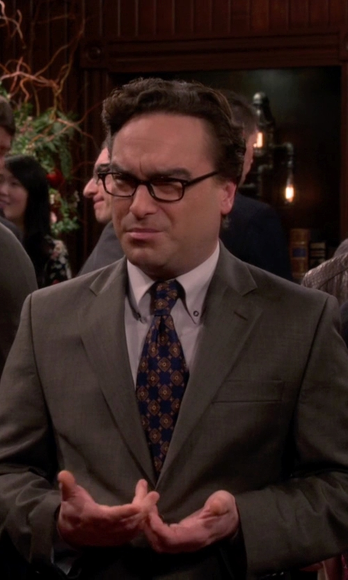 Johnny Galecki with Austin Reed - Contemporary Fit Sharkskin Jacket in The Big Bang Theory