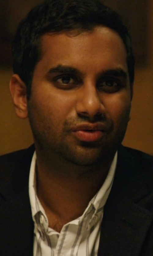 Aziz Ansari with DKNY Skinny Two-Button Suit Jacket in Master of None