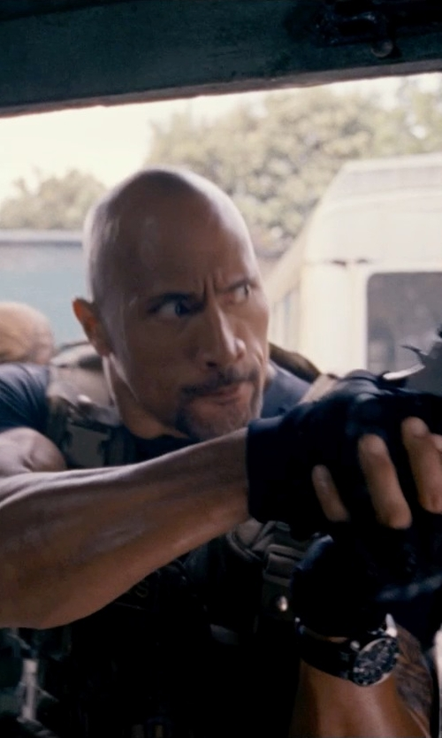 Dwayne Johnson with Strong Suit On Tour Motorcylce 1/2 Finger Glove in Fast & Furious 6