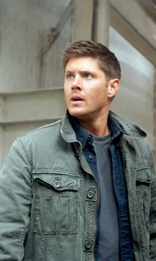 Jensen Ackles with Gap Commander Slub Twill Jacket in Supernatural