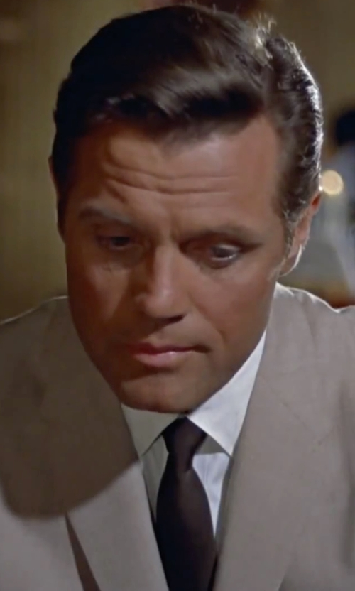 Jack Lord with Michael Kors Solid Silk Tie in Dr. No