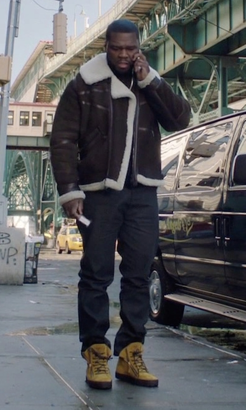 50 Cent with Timberland Nubuck Boots in Power