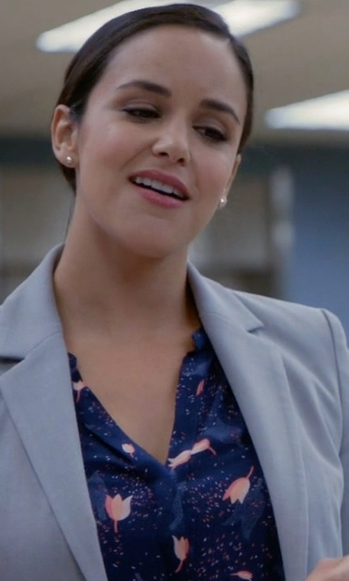 Melissa Fumero with Antik Batik Floral Shirt in Brooklyn Nine-Nine