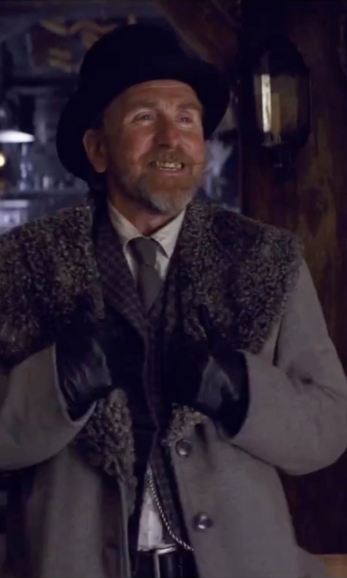 Tim Roth with Ermenegildo Zelda Geometric Silk Tie in The Hateful Eight