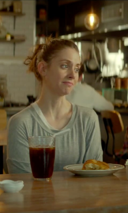 Alison Brie with Sierra Trading Post Scoop Neck Cashmere Sweater in Sleeping with Other People