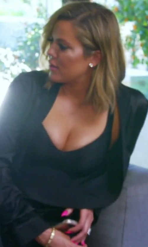 Khloe Kardashian with Wolford Mat De Luxe Forming Bodysuit in Keeping Up With The Kardashians