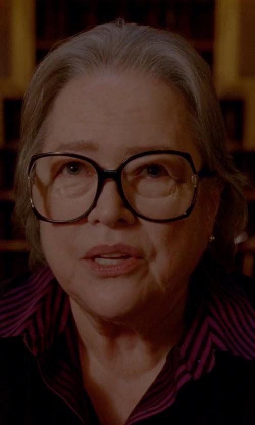 Kathy Bates with Kam Dhillon Jackie Black Eyeglass in American Horror Story
