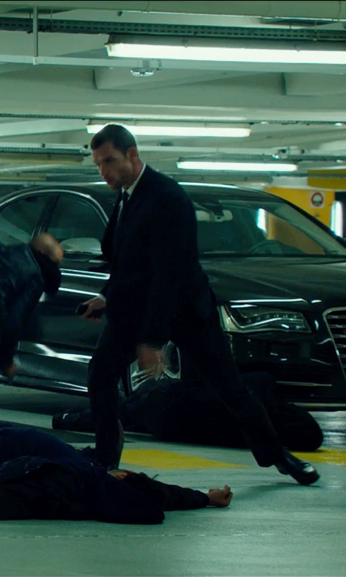 Ed Skrein with Salvatore Ferragamo Pembley Monk Strap Loafers in The Transporter: Refueled