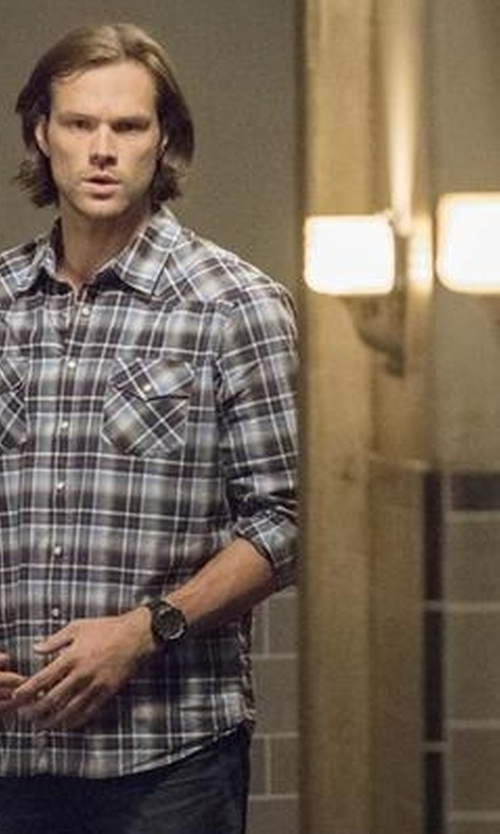 Jared Padalecki with G-Shock Digital Resin Watch in Supernatural