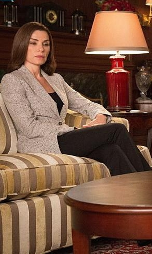 Julianna Margulies with Chloé Tweed Effect Blazer in The Good Wife
