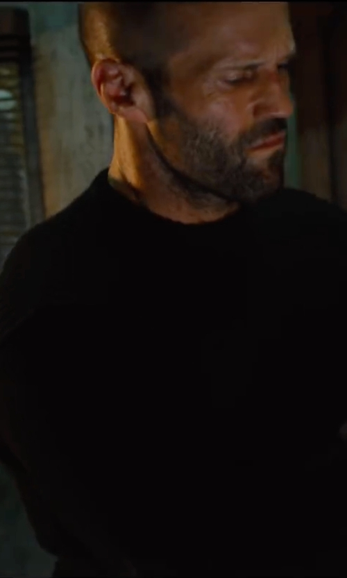 Jason Statham with Hugo Boss Crewneck Sweater in Mechanic: Resurrection