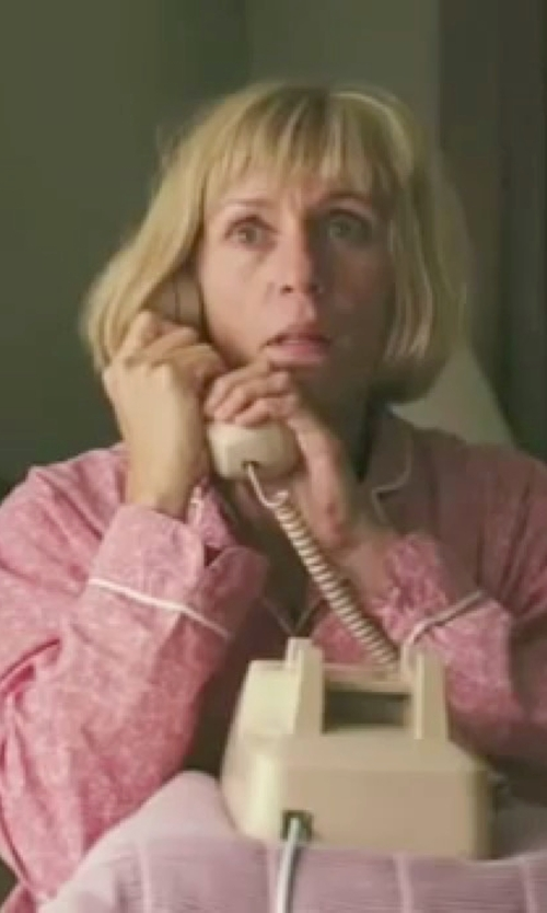 Frances McDormand with Bedhead Pink Eiffel Stretch Classic PJ in Burn After Reading