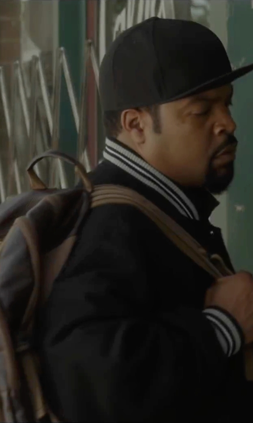 Ice Cube with HUF Classic H Fleece Varsity Jacket in Barbershop: The Next Cut