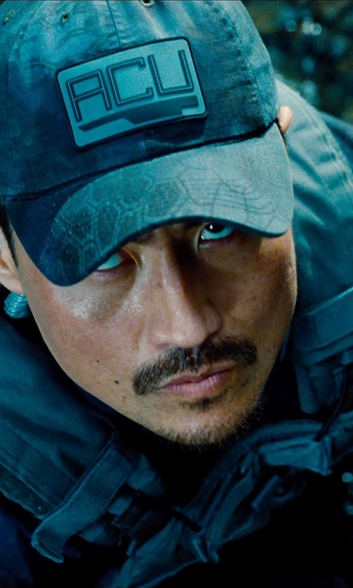 "Brian Tee with Vertx Custom Made ""ACU"" Kryptek Hat in Jurassic World"