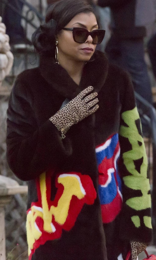 Taraji P. Henson with Moschino Graffiti Coat in Empire