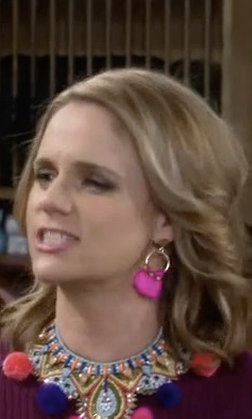Andrea Barber with BaubleBar Honolulu Tassel Drop Earrings in Fuller House