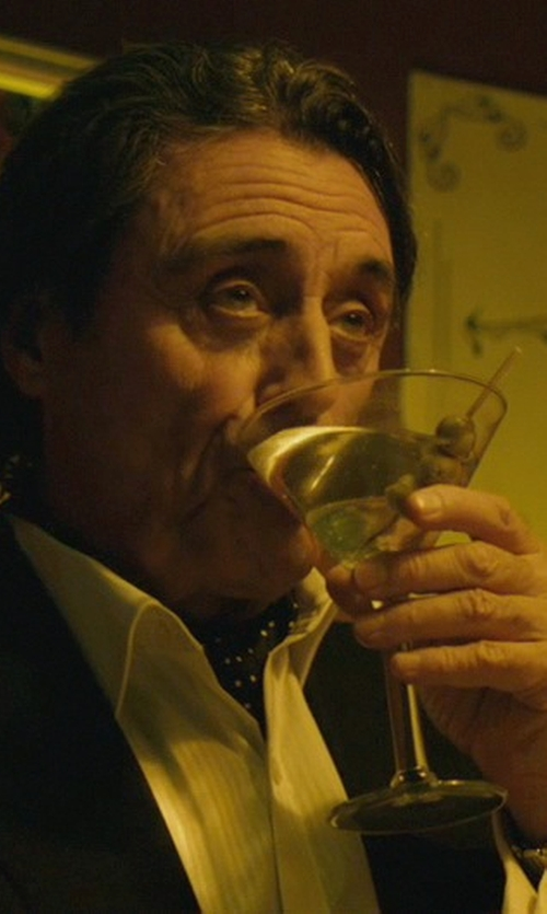 Ian McShane with Barneys New York Martini Glass in John Wick