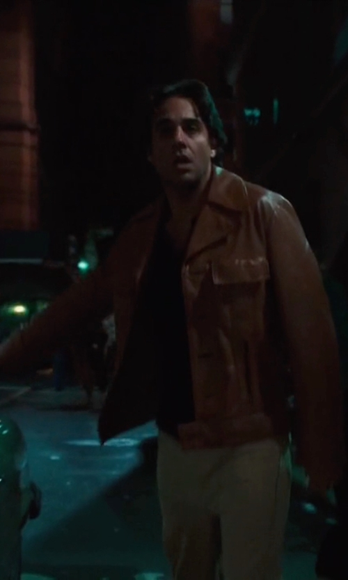 Bobby Cannavale with C.P. Company Leather Jacket in Vinyl