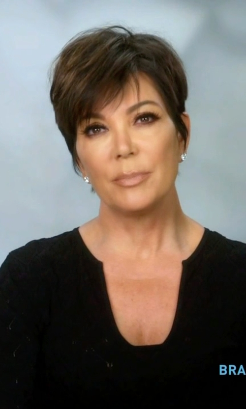 Kris Jenner with Ramy Brook	 Cole Long-Sleeve Split-Neck Blouse in Keeping Up With The Kardashians