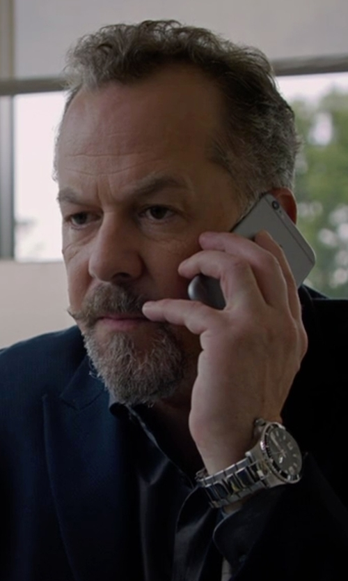 David Costabile with Movado Stainless Steel & Aluminum Bracelet Watch in Billions