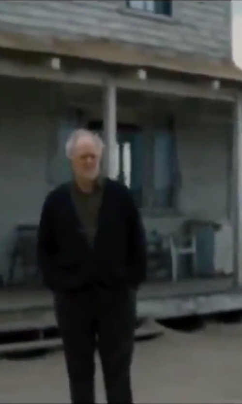 John Lithgow with A.P.C V-Neck Cardigan in Interstellar
