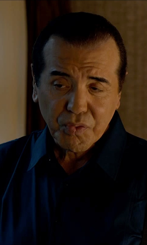 Chazz Palminteri with Dolce & Gabbana Cotton Point Collar 'Sicilia' Dress Shirt in Legend