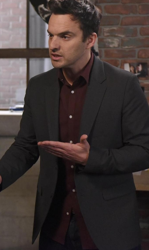 Jake Johnson with Theory Wellar New Tailor Blazer in New Girl