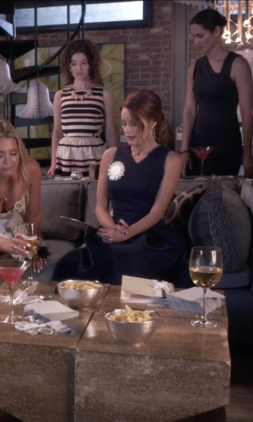 Laura Leighton with Talbots Peek-A-Boo Ponte Sheath Dress in Pretty Little Liars