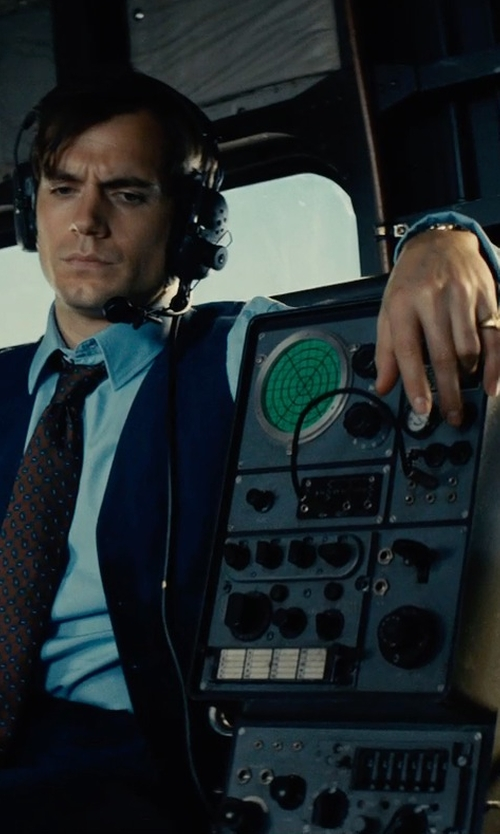 Henry Cavill with Omega Gold Shell Seamaster Wristwatch circa 1960s in The Man from U.N.C.L.E.